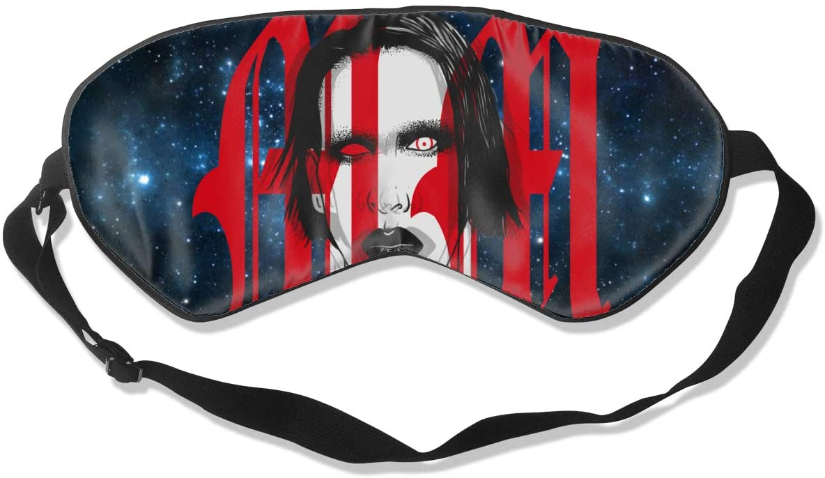 WushXiao Luanelson Marilyn Manson Fashion Personalized Sleep Eye Mask Soft Comfortable with Adjustable Head Strap Light Blocking Eye Cover