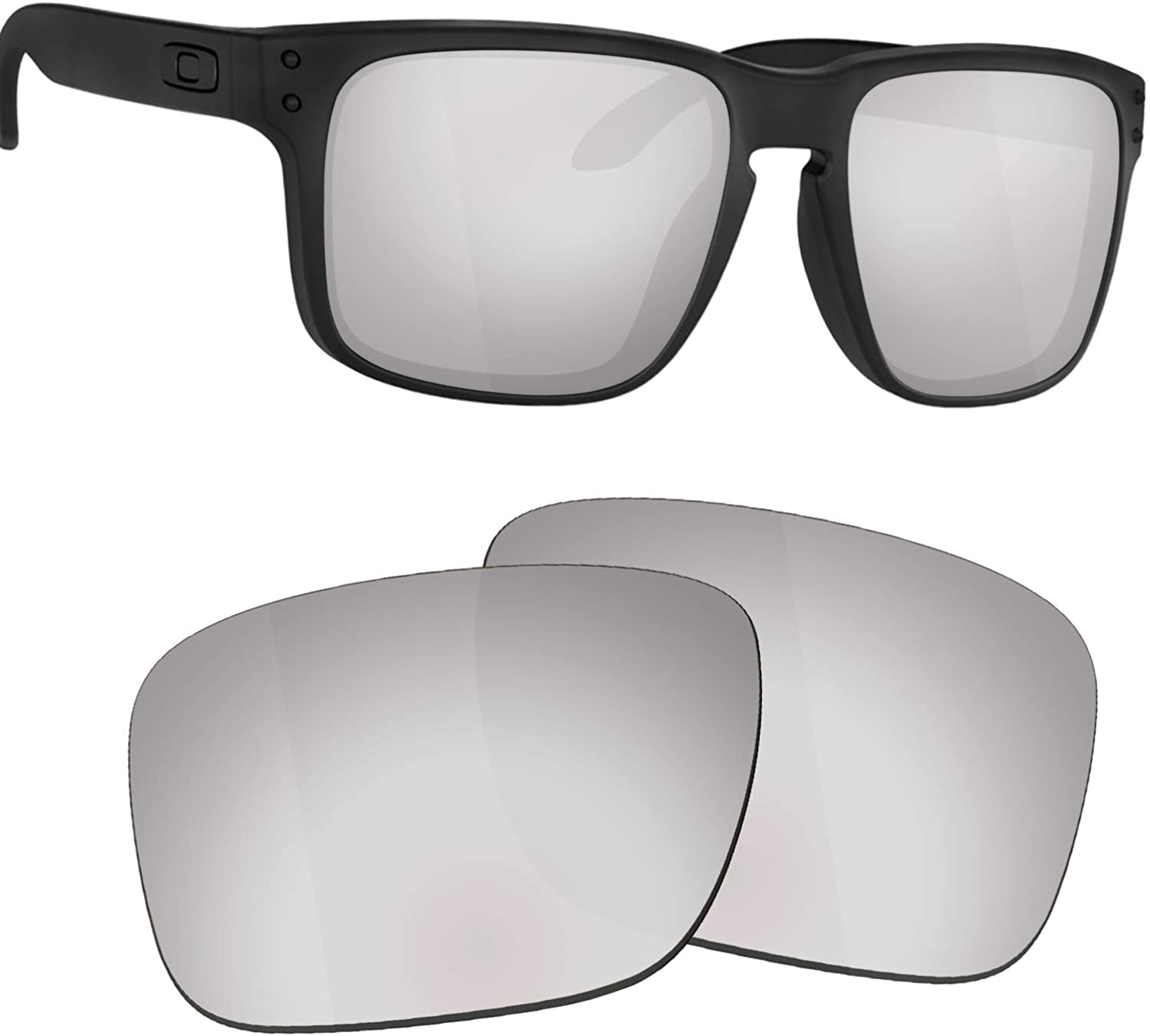 Guarda TRUE POLARIZED Replacement Lenses for Oakley Holbrook XL OO9417 Sunglasses - Titanium Mirrored