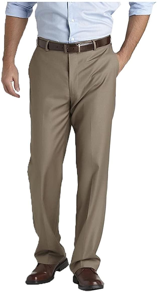 Covington. Men's Flat Front Suit Pants - Fishman & Tobin INC. Size: Variation. Color: Khaki