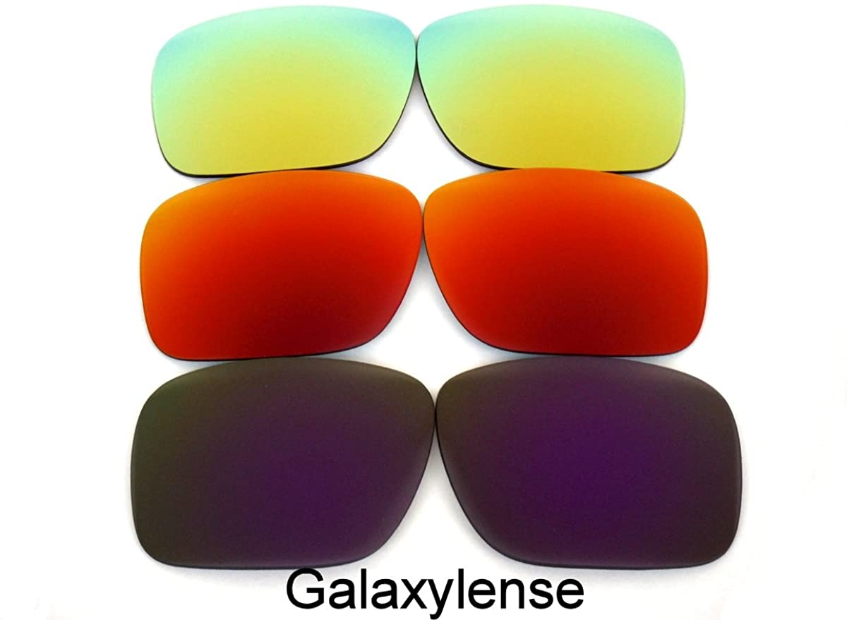 Galaxy Replacement Lenses For Oakley Holbrook Polarized Purple&Red&Gold 3Pair