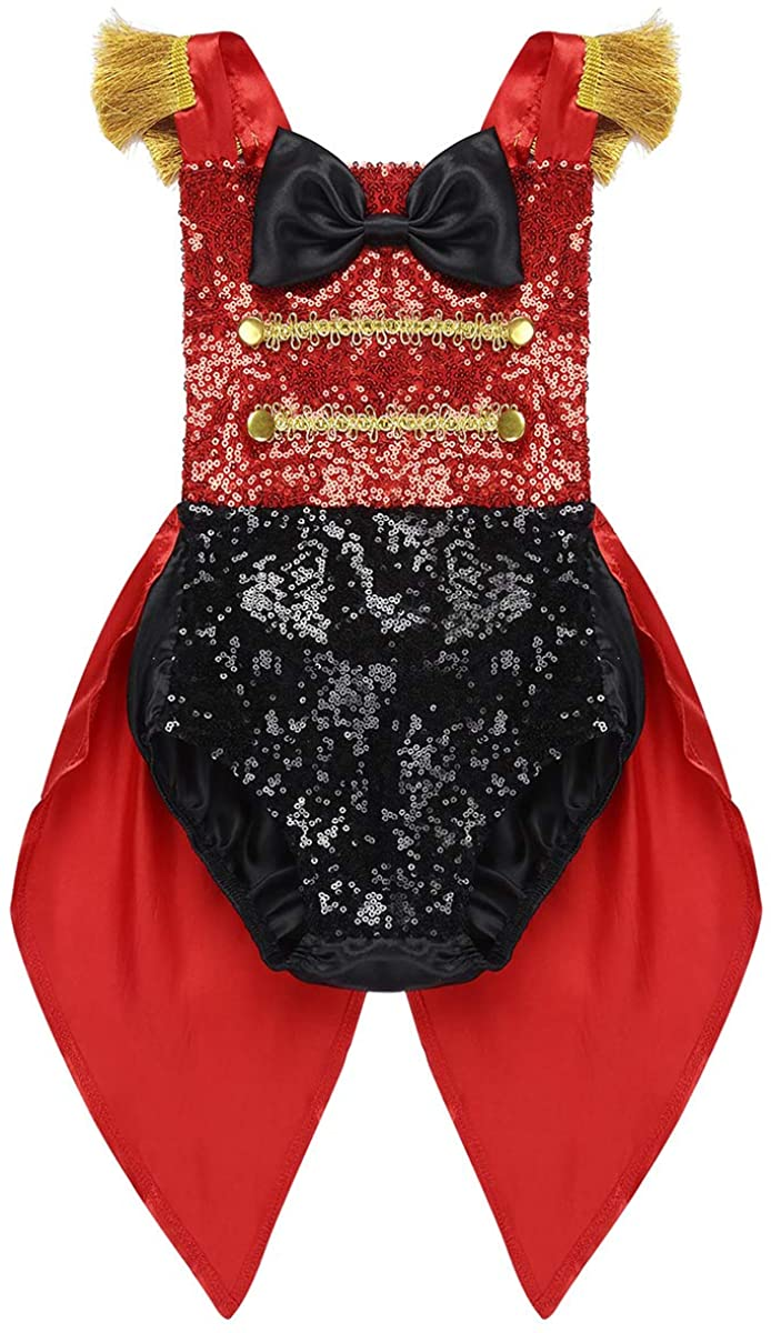 Kaerm Baby Girls Boys Circus Ringmaster Birthday Party Costume Sequins Gentleman Texudo Romper