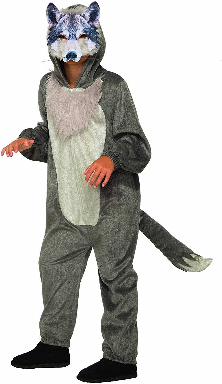 Wolf Jumpsuit with Mask for Boys