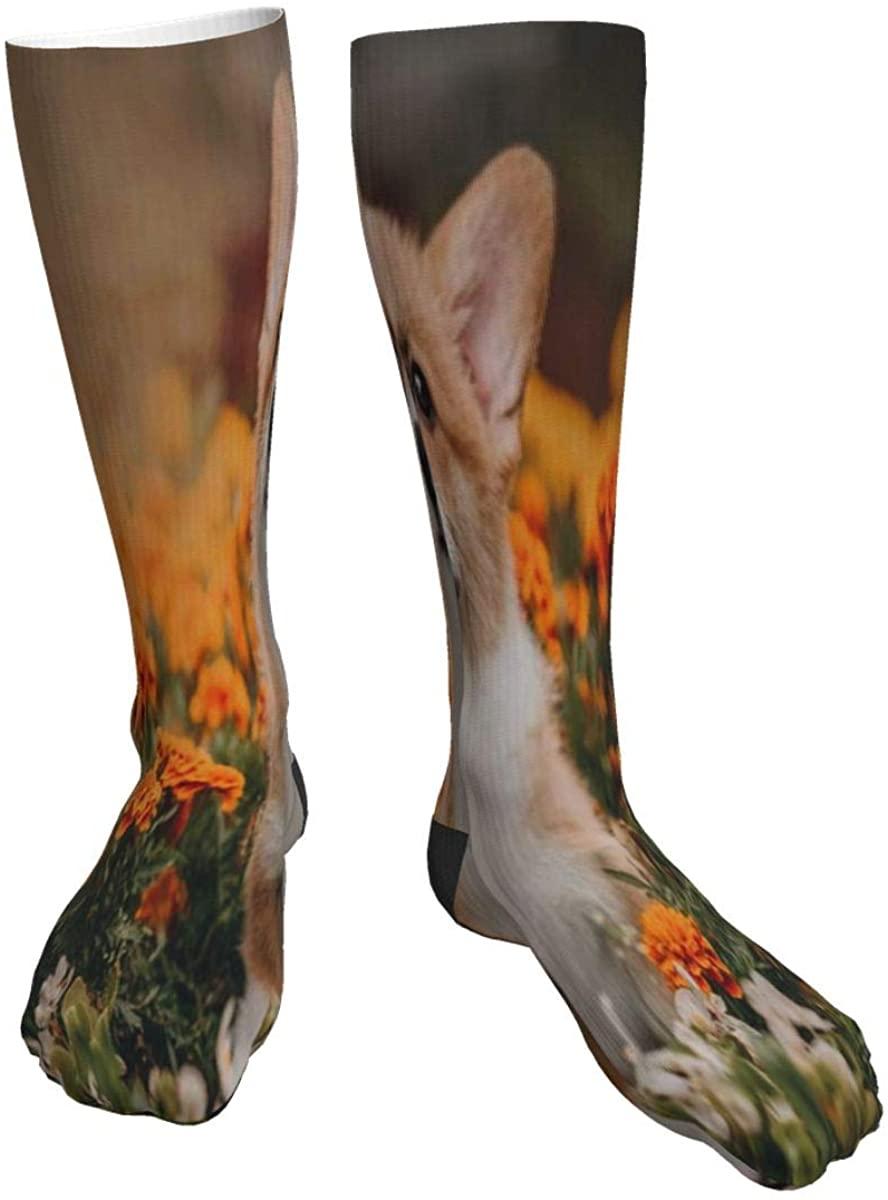 Mens Womens Crew Socks Dragonfly Peace Sign Novelty Mid Calf Dress Hiking Socks Youth