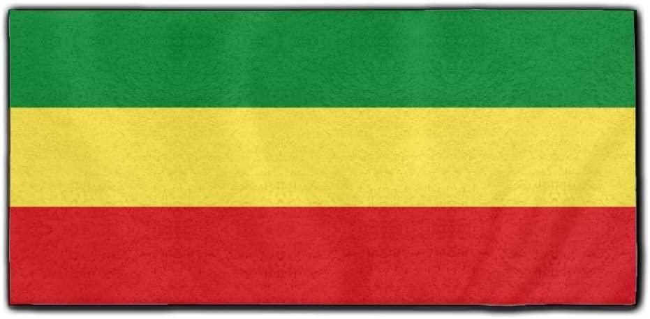 ChunLei Ethiopian Flag Washcloths Face Towel Hair Care Towel Gym And Spa Towel Kitchen Dish Towel