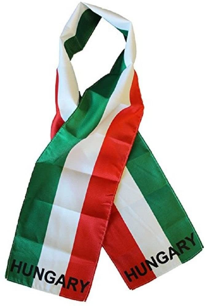 K's Novelties Hungary Country Lightweight Flag Printed Knitted Style Scarf