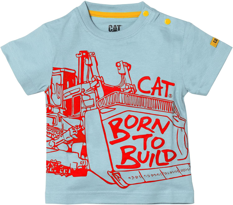 Caterpillar Infant Born to Build T-Shirt