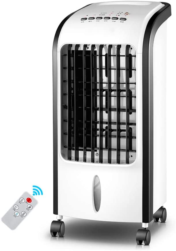 MSQL Portable Air Conditioner Conditioning Fan Humidifier Cooler Cooling System with Remote Control and Wheels, 3 Speeds, 7H Timer, 5L Water Tank