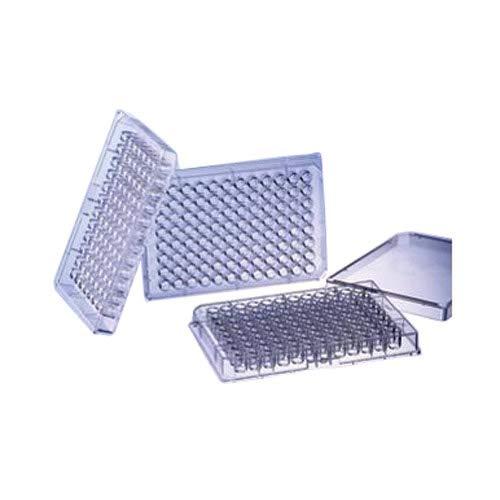 Greiner Bio-One 655077-25 Black Polystyrene FLUOTRAC 600 Microplate, High Binding, Flat Bottom, Chimney Style, 96 Well (Pack of 150)