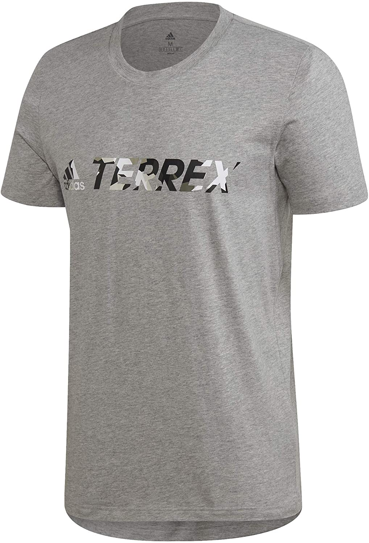 adidas Terrex Logo T-Shirt - SS20 - Large - Grey