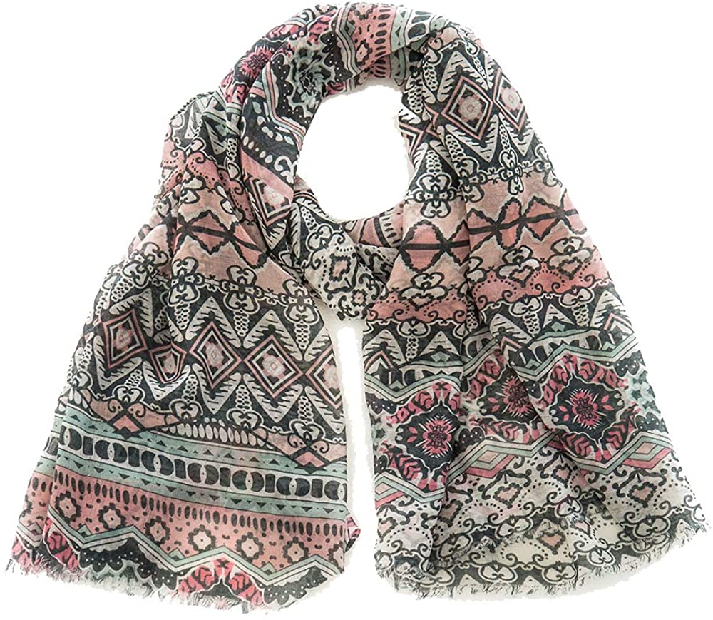 Lightweight ladies fashion printed scarves