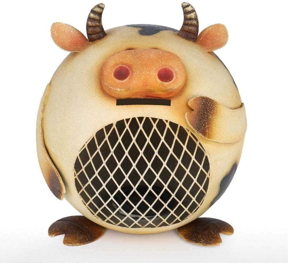 DDGD Milk Cow Coin Bank Animal Piggy Bank Iron Piggy Bank Room Ornament Friends