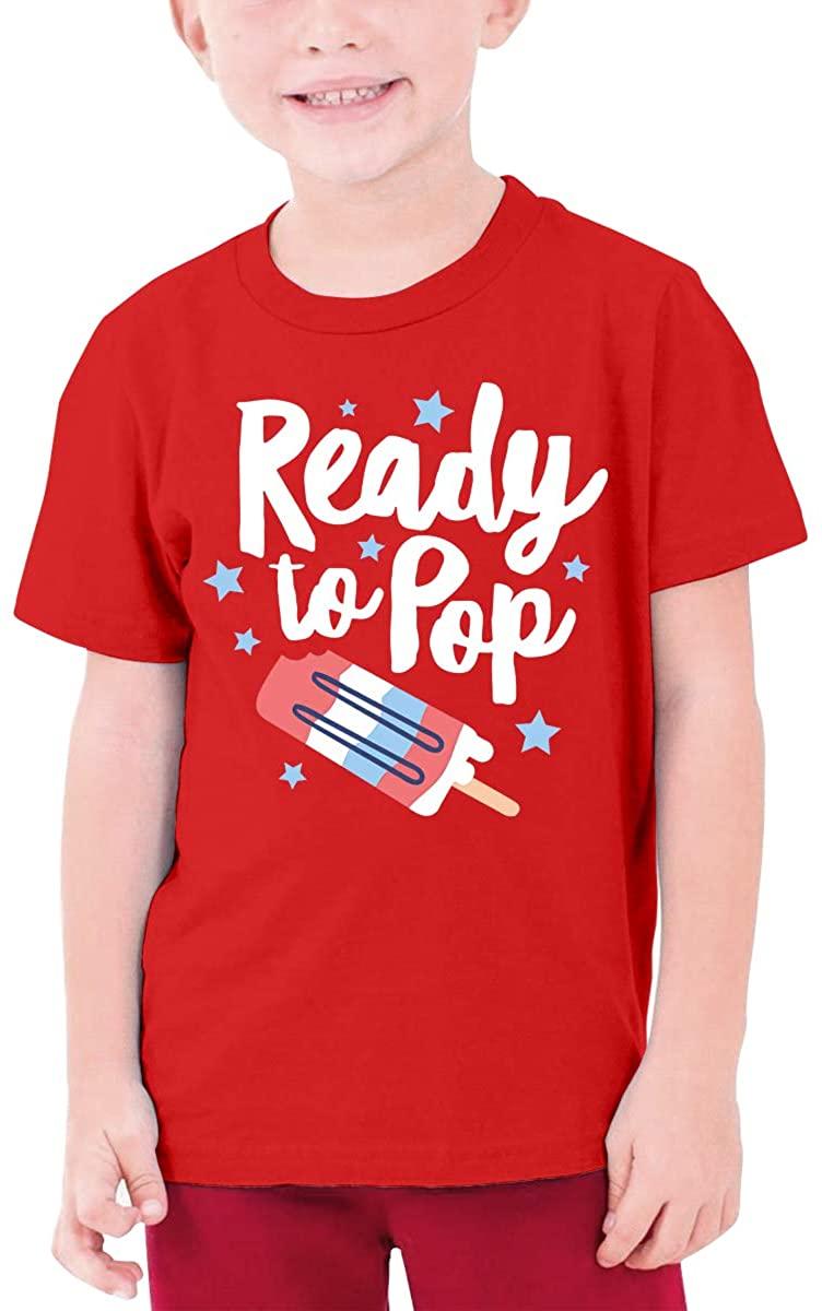 Qwertyi Ready to Pop Boys Girls Short Sleeve T-Shirt