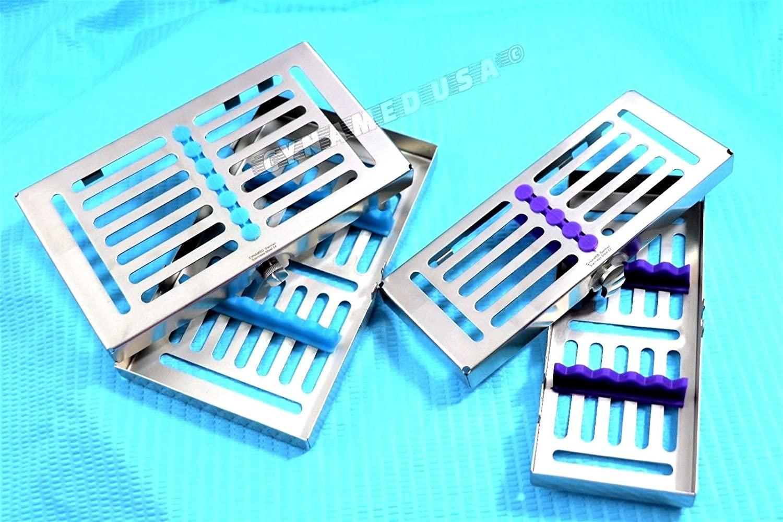 Premium Heavy Duty German Dental Surgical Autoclave Sterilization Cassettes for 7 & 5 Instruments Set of 2 Each