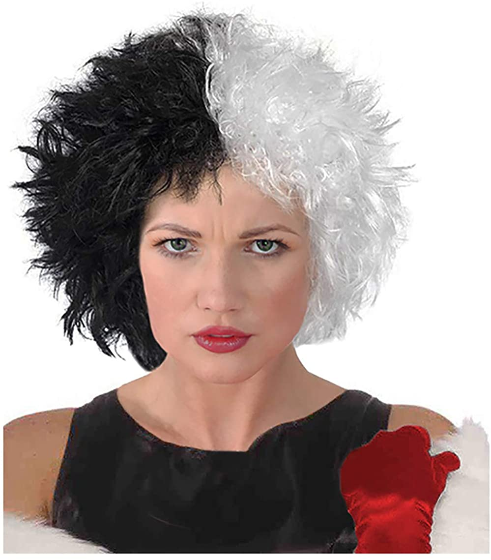 Costume Adventure Black and White Frizzy Wig - One Size Fits Most