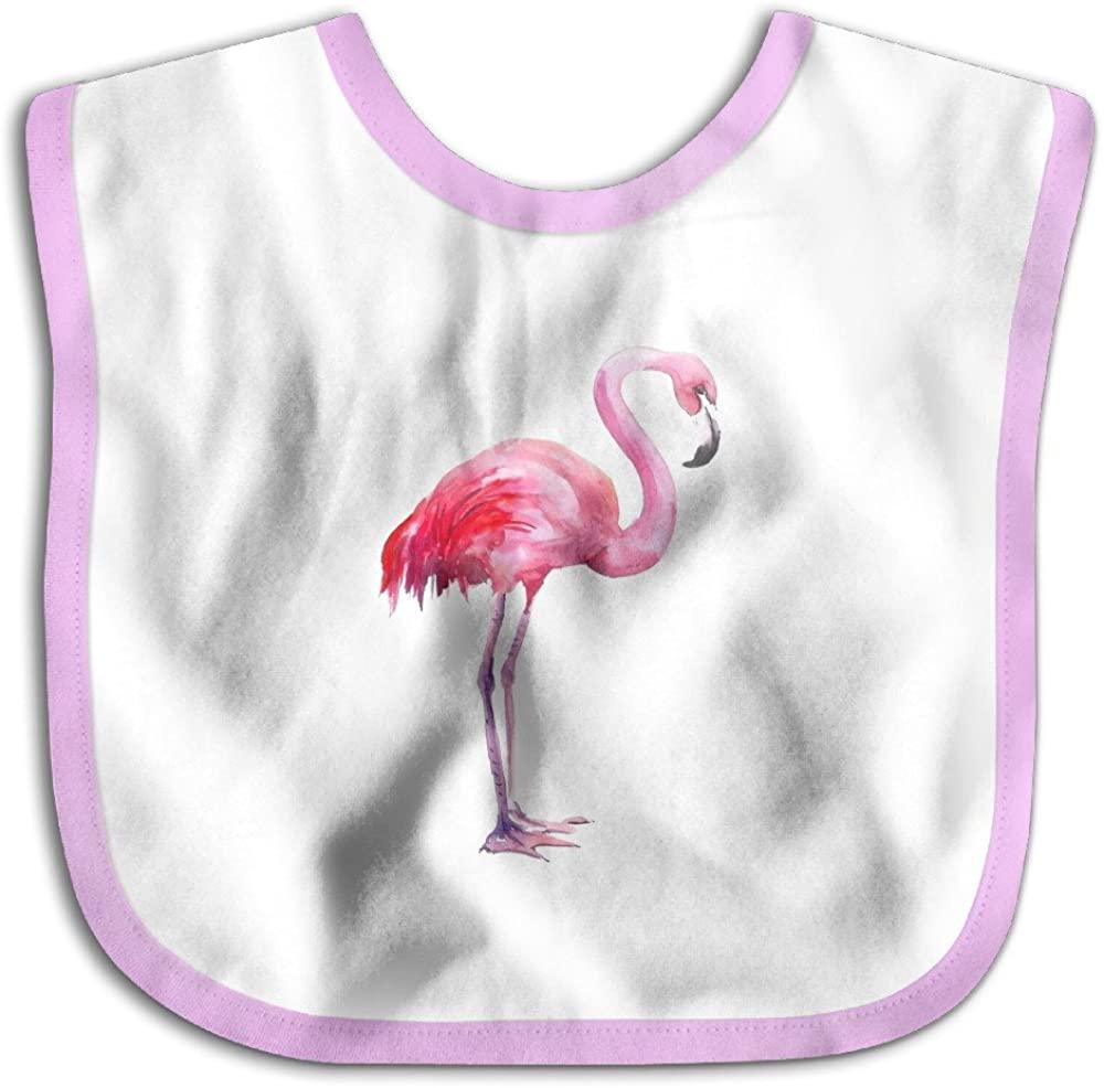 Baby Wildlife Animals About A Pink Flamingo Bird Skin-Friendly Bibs, Best Gift For Newborn