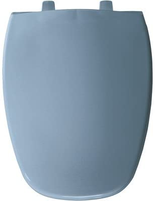 Eljer Emblem Elongated Solid Plastic Toilet Seat Finish: Glacier Blue