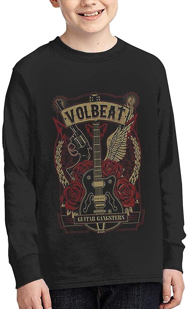 Volbeat T Shirt Boys Long Sleeve Tee Novelty Crew Neck Tshirts