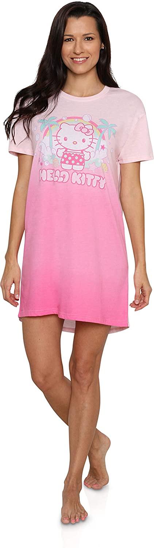Hello Kitty Women's Long Dorm Nightgown Tie Dye Pajama Sleepwear