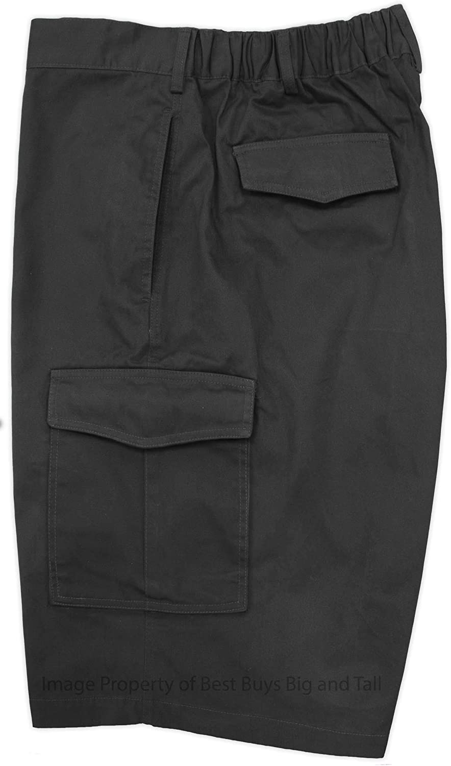 Falcon Bay Big & Tall Mens Cargo Shorts with Expandable Comfort Waistband