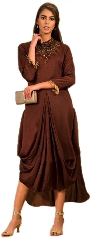 Saheli Apparels Satin Silk Brown One Piece