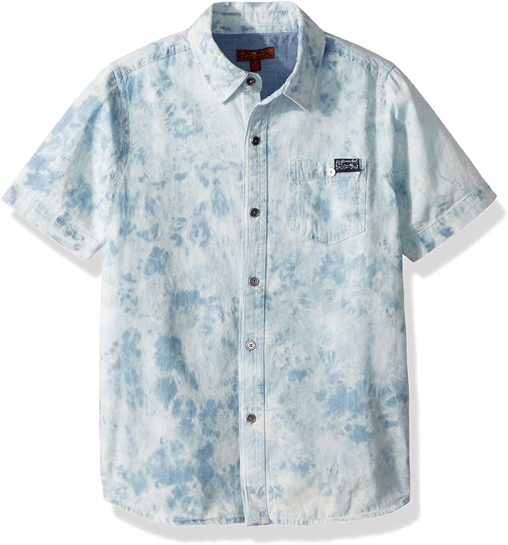 7 For All Mankind Boys' Short Sleeve Denim Shirt