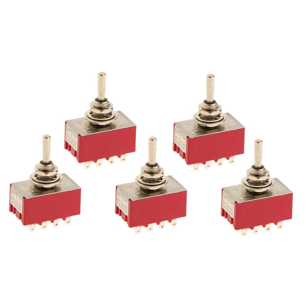 Milageto On/Off/On Small Mini Toggle Switch 12 PIN