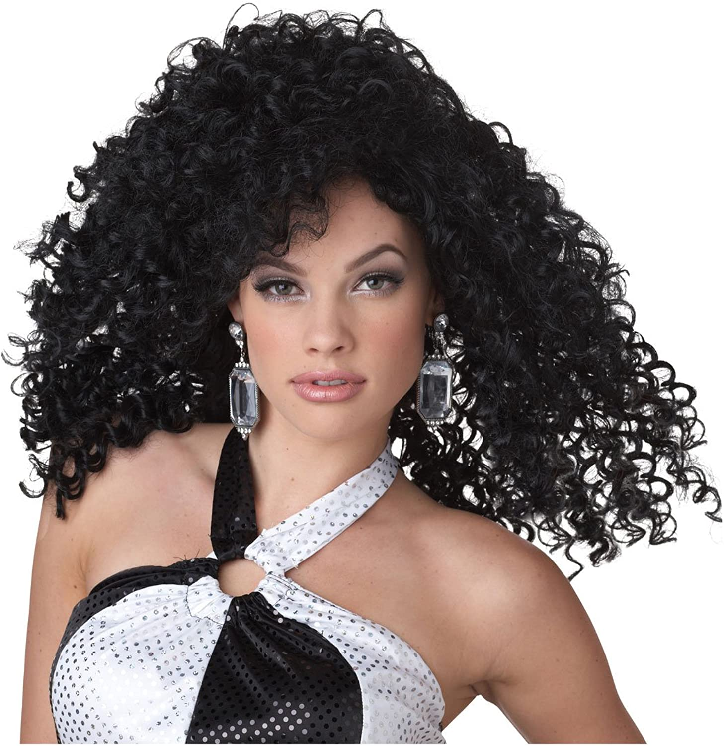 California Costumes Dancing Queen Costume Wig (Black)-Standard