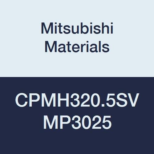 Mitsubishi Materials CPMH320.5SV MP3025 Cermet CP Type Positive Turning Insert with Hole, Coated, Rhombic 80°, Grade MP3025, 0.375