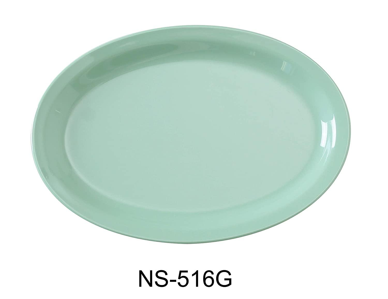 Yanco NS-516G Nessico Oval Platter with Narrow Rim, 15.5