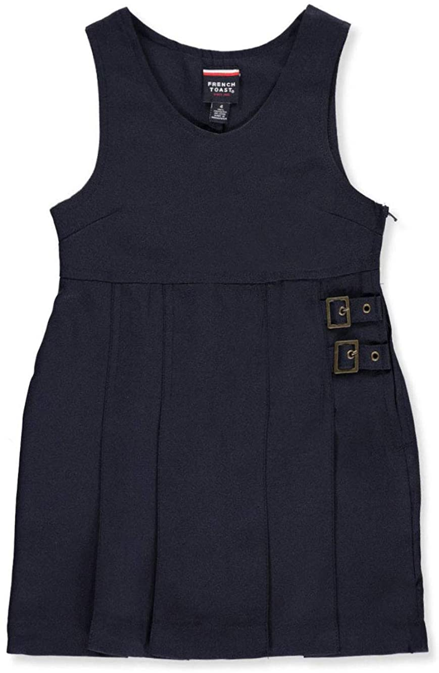 French Toast Little Girls' Double Buckle Tab Jumper - Navy, 4