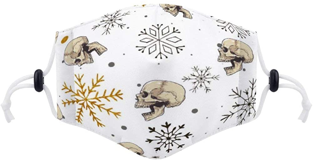 Face Protector (with Two Filters) Tropical Leaves Mouth Balaclava