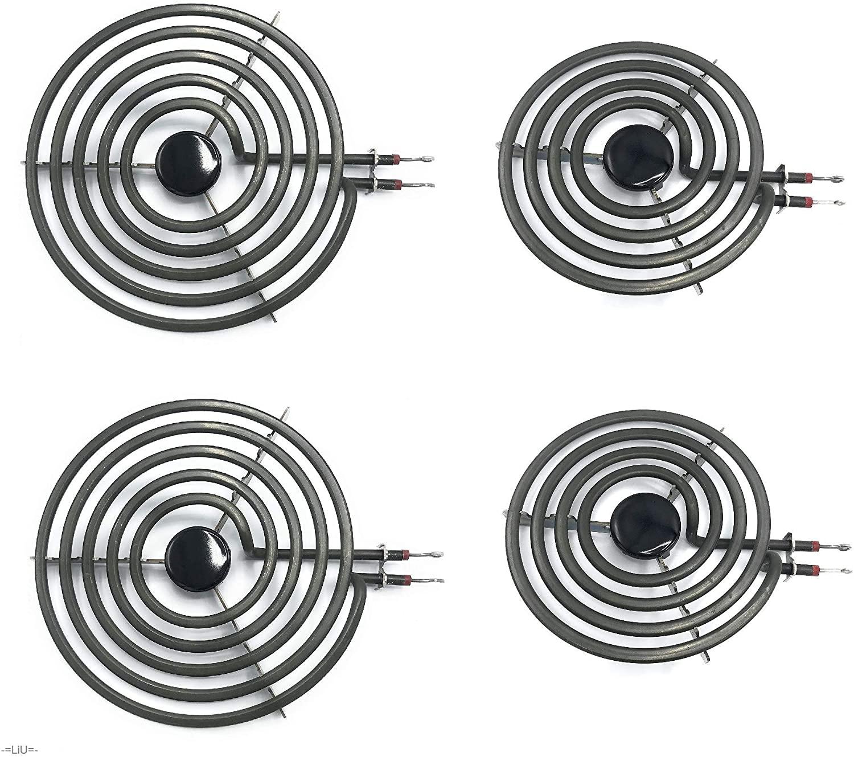 -=LiU=- 4 Pack - MP22YA Electric Range Burner Element Unit SET - 2 x MP15YA 6