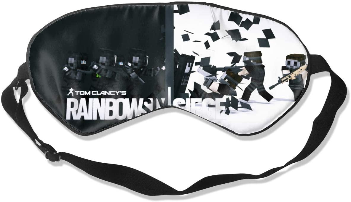 WushXiao Luanelson Rainbow Six Siege Fashion Personalized Sleep Eye Mask Soft Comfortable with Adjustable Head Strap Light Blocking Eye Cover