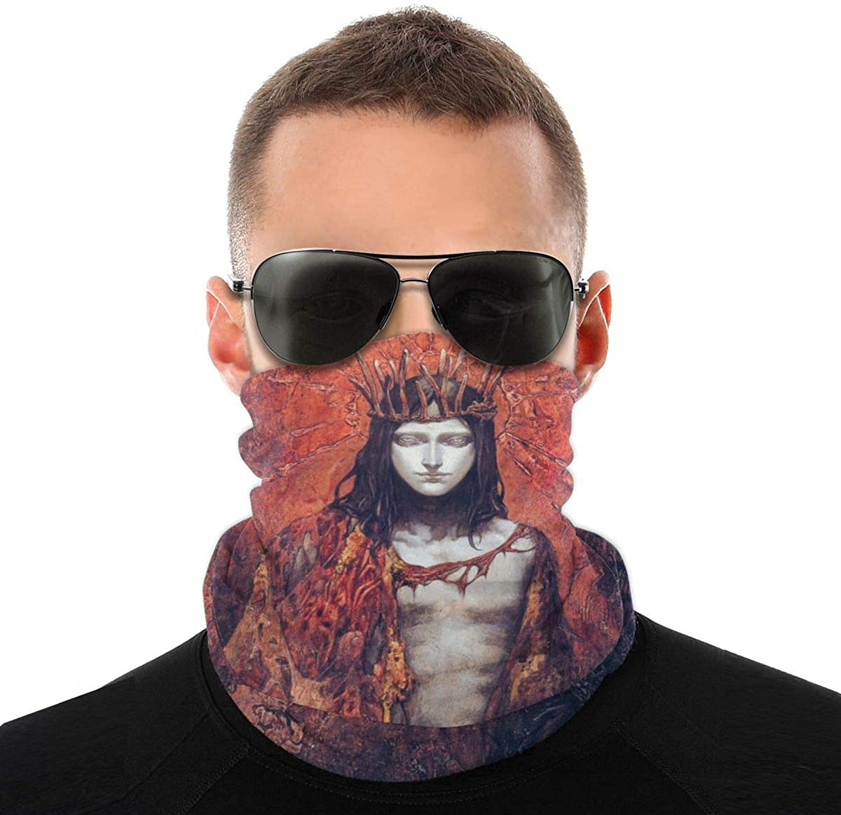 Red Man Ruthless Corrupt Novelty Neck Gaiter Unisex Adult Windproof Mask Dust Sports Face Mask Half Balaclava Weather Bandana Women Men Outdoors Festivals