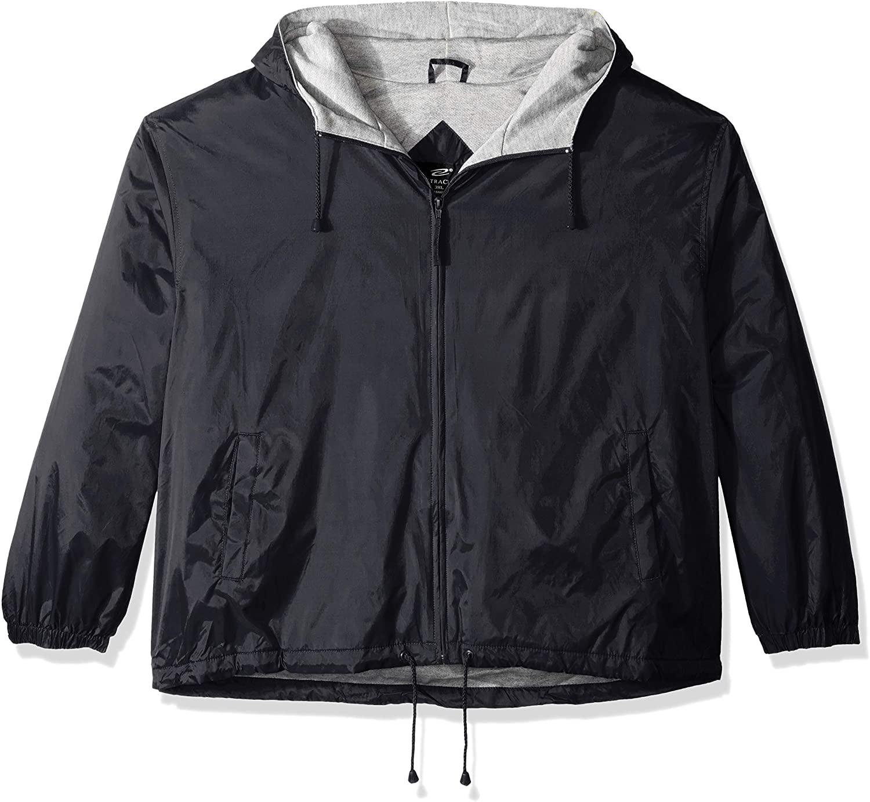 RETOV Men's Fleece-Lined Hooded Jacket, Black, Small