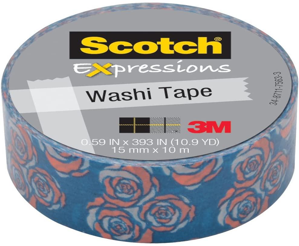 3M Washi Tape .59X393 (15mmx10m)-Vintage Rose