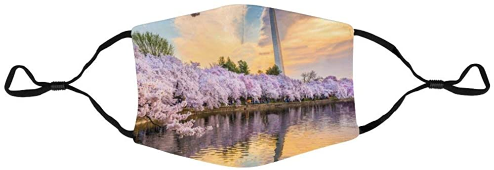 Face Protection Washington DC, USA at The Tidal Basin Face Protection Unisex Adjustable Breathable Dustproof Mouth Cover