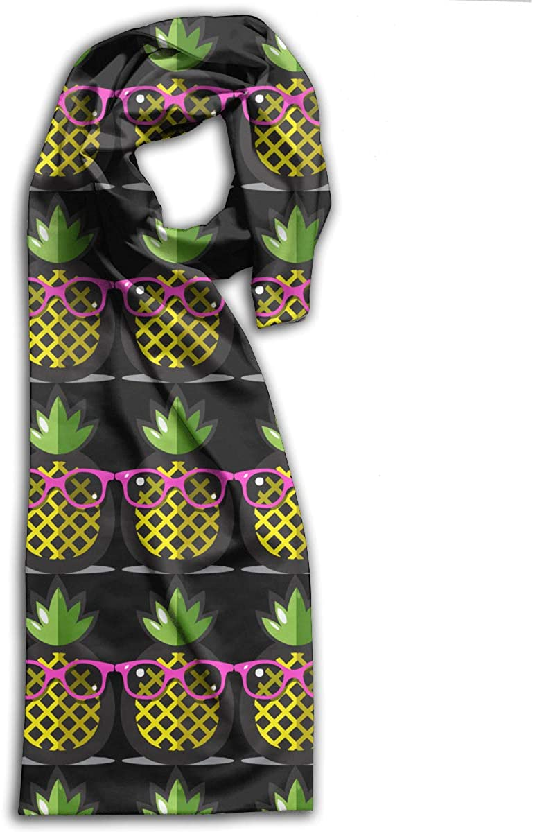 Pineapple Yellow With Sunglasses Adult Scarf Winter Warm Wraps Shawls Neckerchief