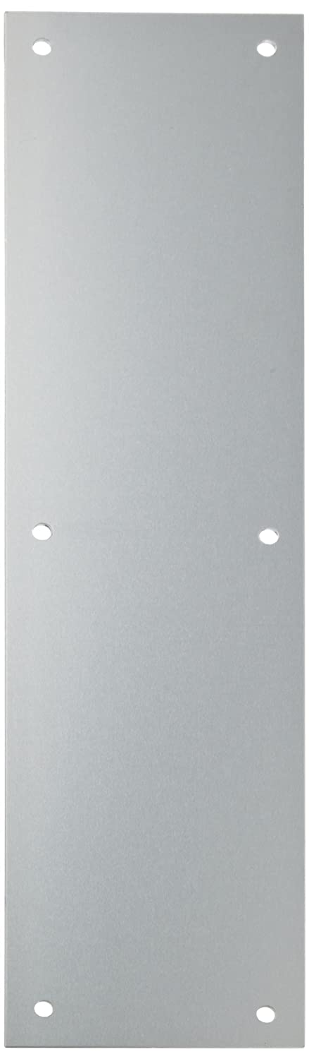 Rockwood 70C.3 Brass Standard Push Plate, Four Beveled Edges, 16