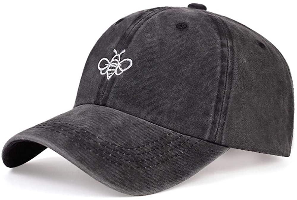 Summer Wash Baseball Cap Men's Cotton Dad Hats Bee Embroidery Sun Hat Snapback Hats Hip Hop Caps 54-62cm