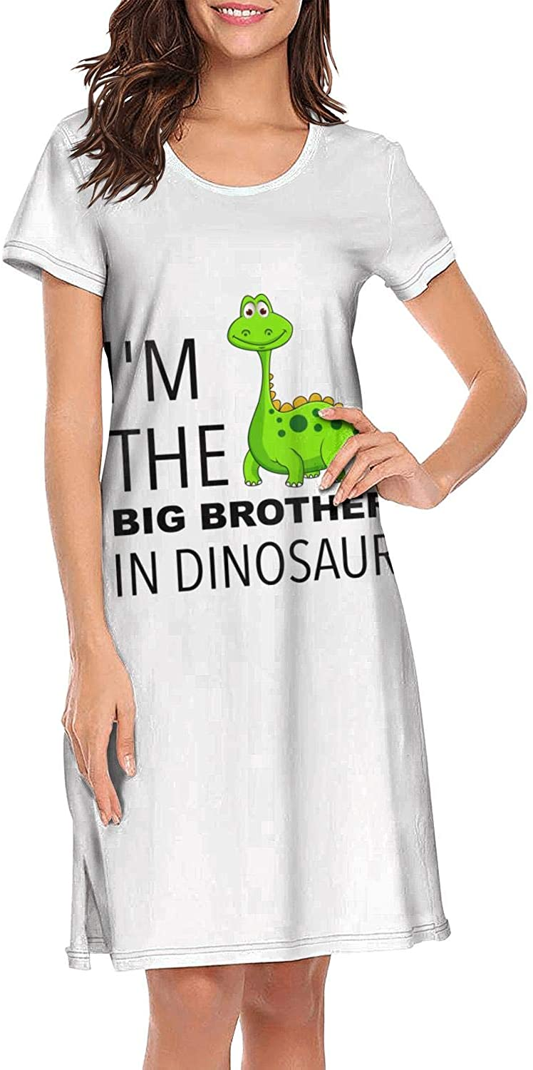 Not applicable Women's Casual Dinosaur Hug Me Dinosaurs Short Sleeve Nightgown