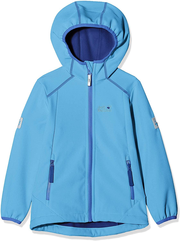 Jack Wolfskin Kids Baby Girl's Whirlwind Jacket (Infant/Toddler/Little Kids/Big Kids) Zircon Blue 176 (14+ Years Old)