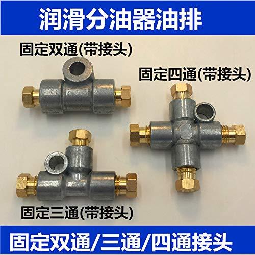 Ochoos Four Way Junction Block 4T-8-8L+PA+PB Oil Distributor/Separator Valve/Divider for CNC Machine/centralized Lubrication System - (Color: 4T 8 8L)