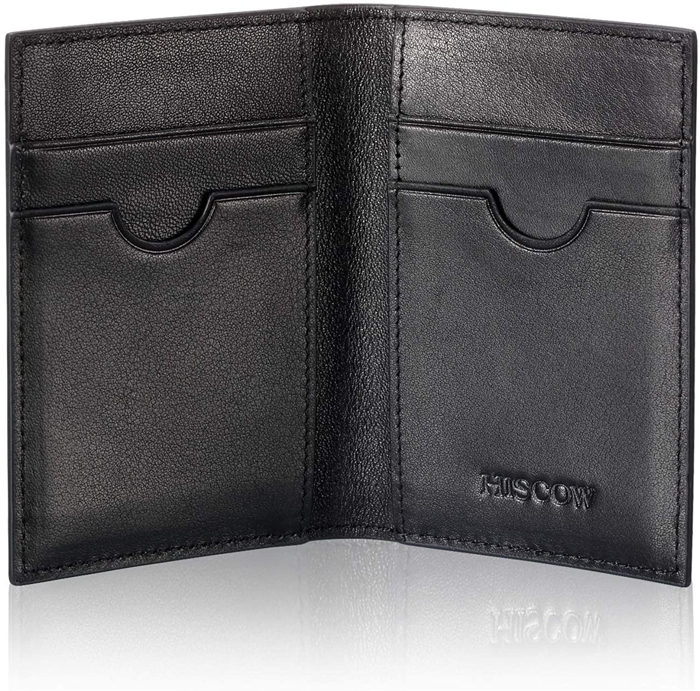 Slim Leather Credit Card Holder 4cc for Men & Women, Italian Calfskin