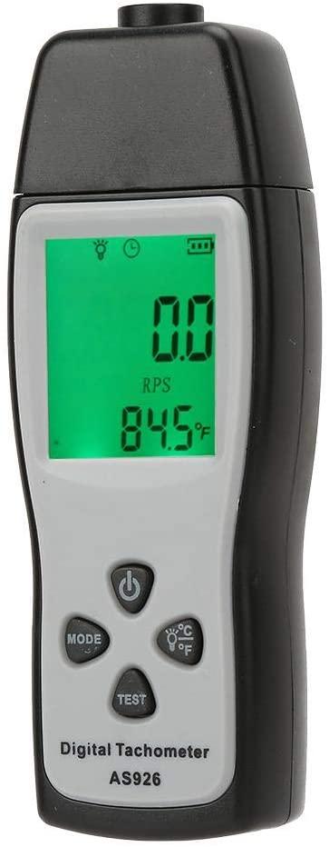 Akozon Digital Tachometer, Smart Sensor AS926 No-Contact Handheld Rotational Speed Meter and Counter Photo Tachometer Speedometer