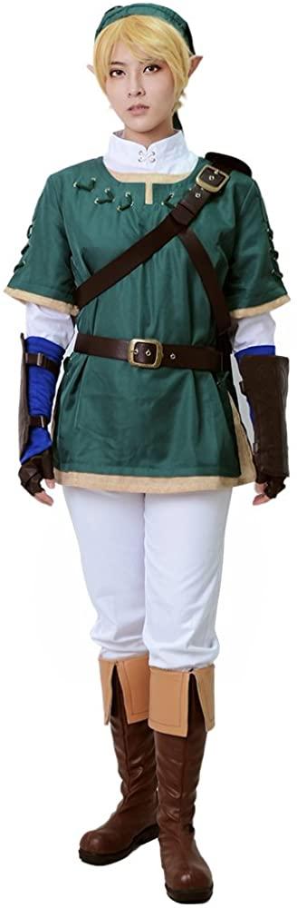 miccostumes Mens Link Cosplay Costume Green
