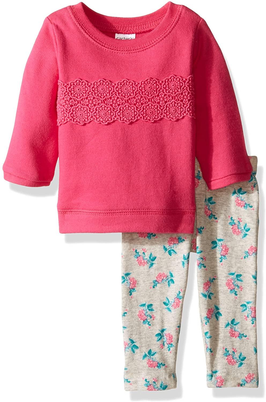 Carters Baby Girls 2 Pc Playwear Sets 239g234