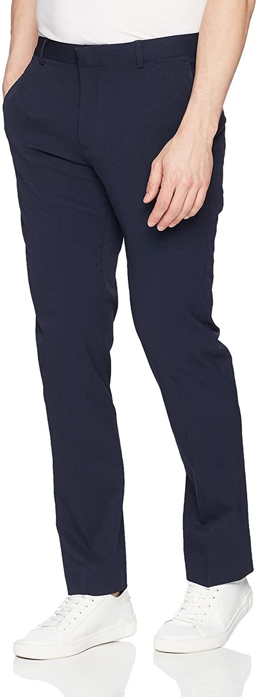 Perry Ellis Men's Slim Fit Stretch Solid Tech Seersucker Pant