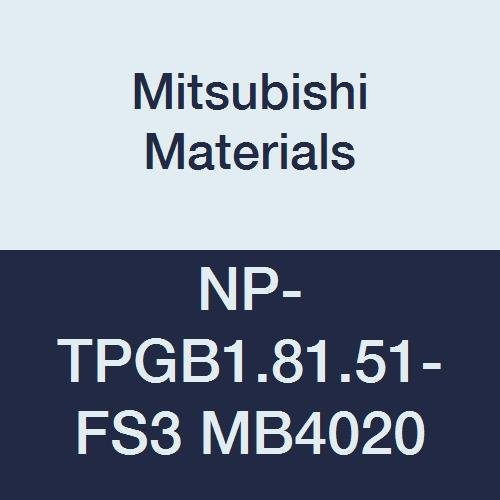 Mitsubishi Materials NP-TPGB1.81.51-FS3 MB4020 CBN TP Type Petit Tip Pos. Turning Insert with Hole, General Cutting MB4020, FS Honing/No Wiper, 3 Tip, 0.016