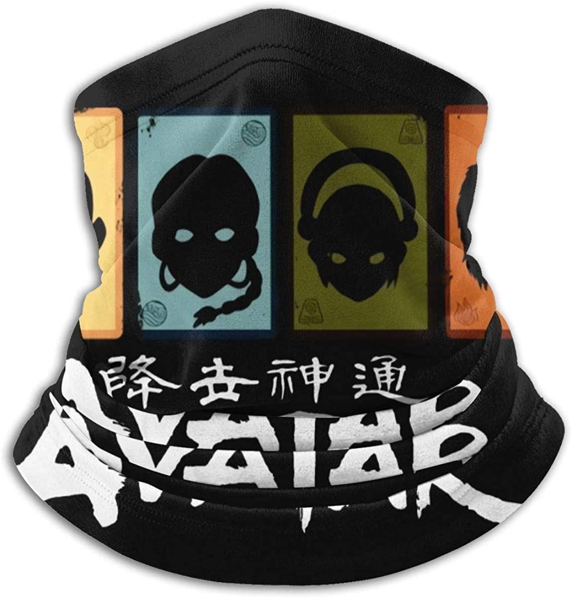 Avatar The Last Airbender Neck Warmer Neck Gaiters Warm Novelty Bandana Face Mask Neck Scarf For Men & Women